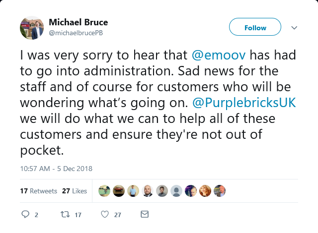 Michael Bruce's statement on Emoov administration